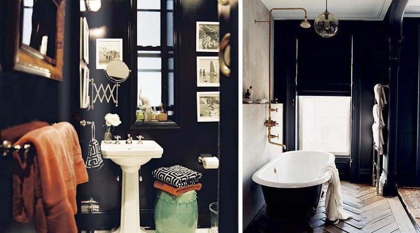Ambientes com parede preta