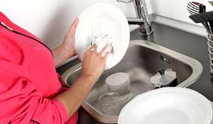 Organize-se para limpar a cozinha