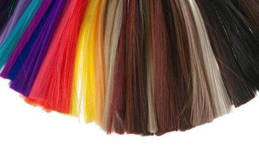 Cabelos de diversas cores