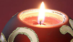 Limpeza de velas decorativas