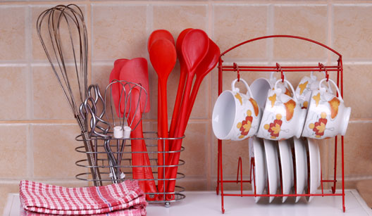 Organize acessórios na lavagem da louça