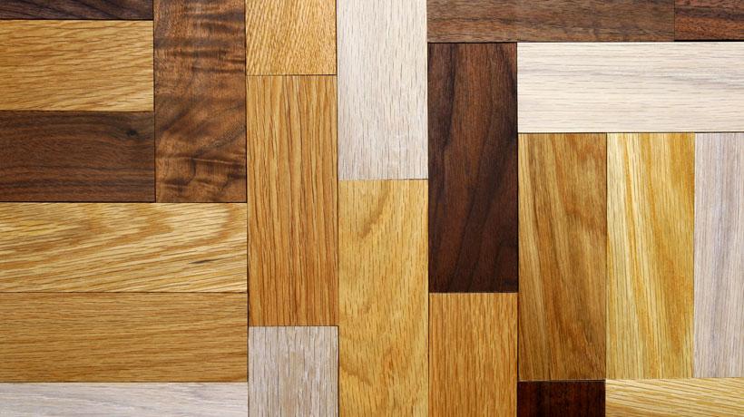 Pisos de madeira com acabamentos diferentes