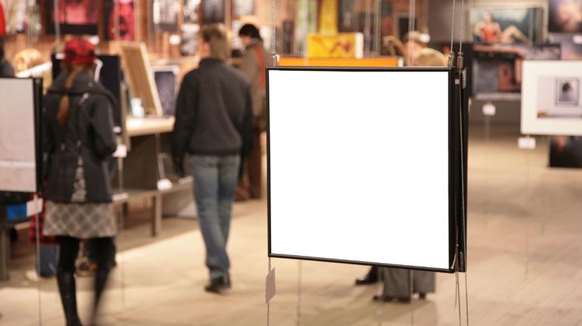 Exposição de arte em galeria