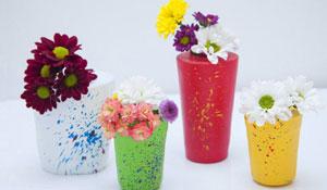 Como fazer vasinhos coloridos com bexigas