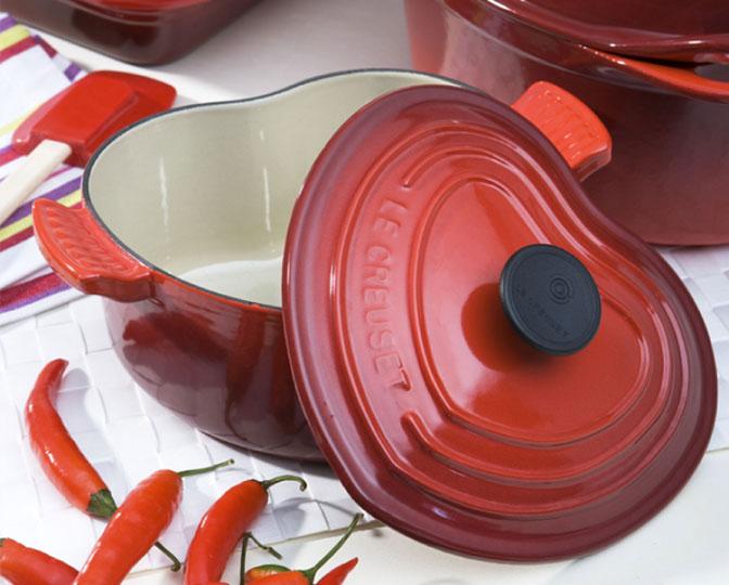 Panela de ferro fundido esmaltada da Le Creuset
