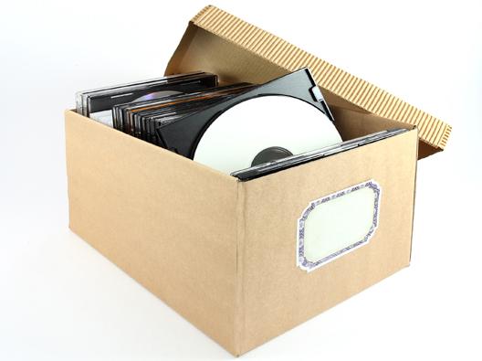 Caixa com CDs