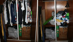 Organize o guarda-roupa masculino