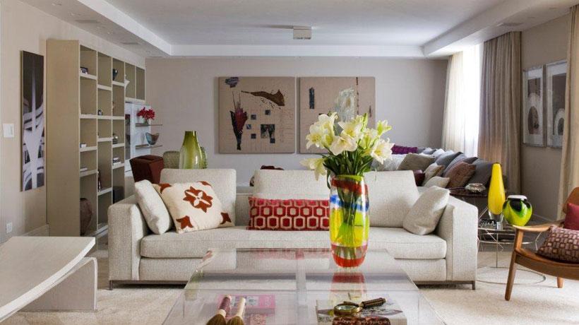 Ambiente decorado por Marília Veiga