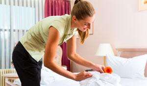 Arrumação e limpeza diária do quarto