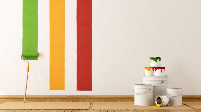 Tintas na parede
