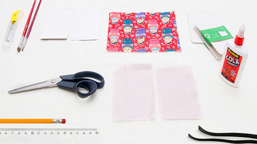Materiais para decorar caderneta
