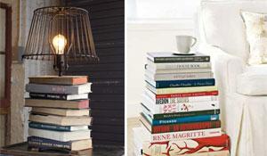 Decoração criativa com livros