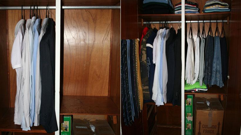 Guarda-roupa organizado
