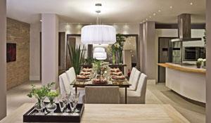 Living com espaço gourmet