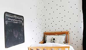 Bolinhas na decoração da parede