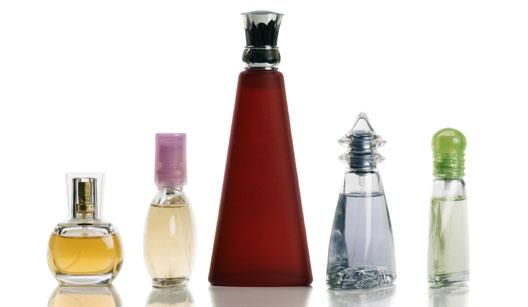 Fragrâncias classificadas conforme concentração