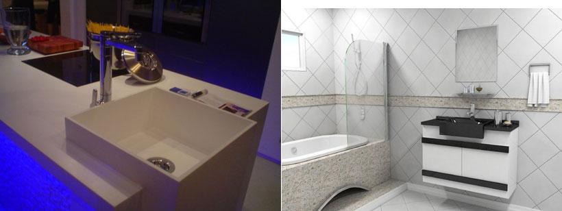 Cubas para banheiro e lavabo