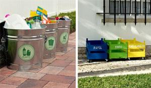 Como organizar o lixo reciclável em casa