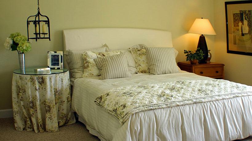 Decore o quarto com estampas florais
