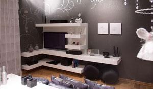 Decoração para quarto feminino em preto e branco