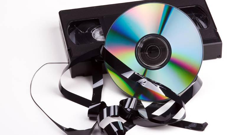 Fita VHS estragada com DVD