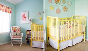 Berços coloridos dão charme ao quarto do bebê