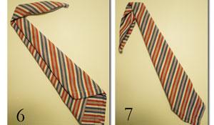 Como dobrar o guardanapo em forma de gravata