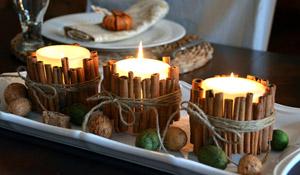 Aprenda a decorar velas com canela em pau
