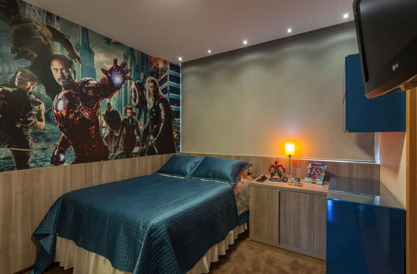 Quarto infantil tem decoração inspirada nos Vingadores