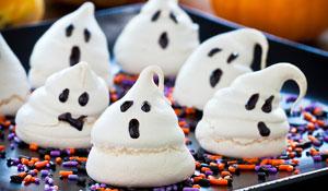 Comidinhas decoradas para a festa de halloween