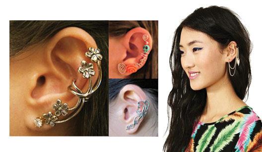 Mulheres usando ear