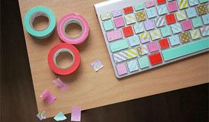 Fitas adesivas para decorar e organizar eletrônicos