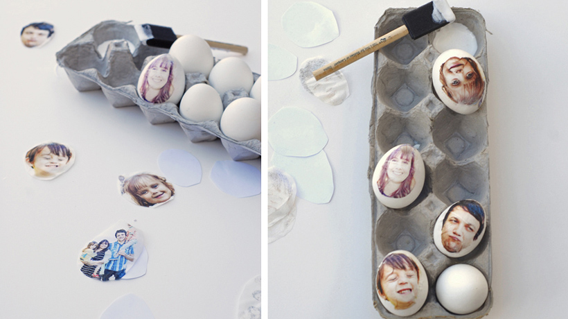 Ovos decorados com fotos para páscoa