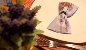 Como dobrar  guardanapo em forma de laço