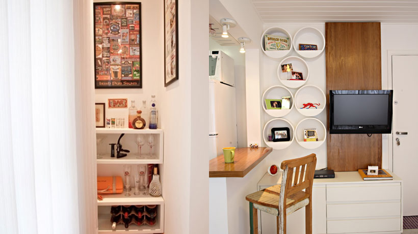 Nichos em bar e espaço gourmet