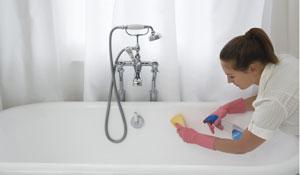 Como limpar banheiras