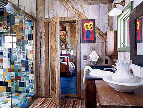 Efeito patchwork na parede