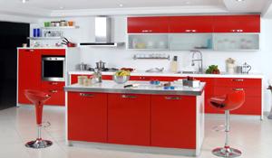 Decore sua cozinha usando a tendência color block