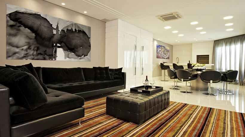 Decoração para sala de estar e jantar integradas