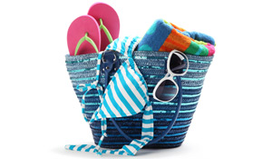 Como organizar a bolsa de praia