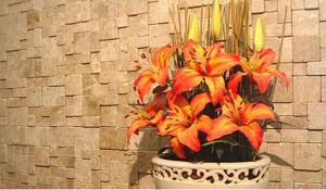 Mosaico faz jogo de luz e cores