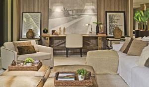 Lounge com cores neutras