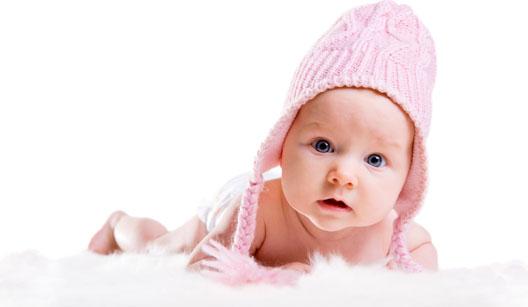 Bebê com touca