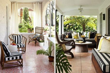 Decoração de varanda, quintal e jardim