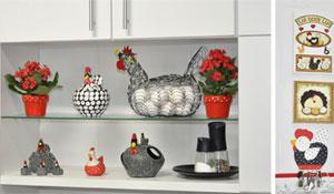 Galinhas na decoração da cozinha