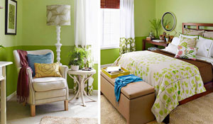 Tons de verde na parede