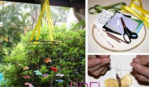 Artesanato: móbile infantil de papel