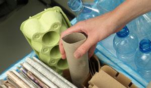 Descarte correto de lixo e reciclagem