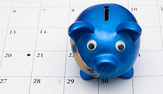Organize contas pelas datas de pagamento