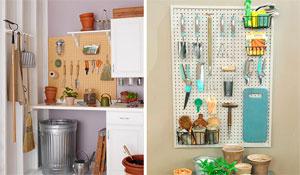 Organização de ferramentas para jardinagem